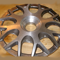 Three piece wheel centre